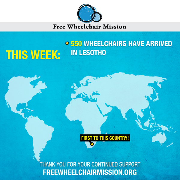 Special Delivery: 550 Wheelchairs Delivered this Week!