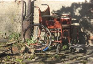 Valentina's old Wheelchair