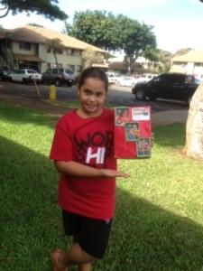 Lili and donation box