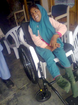 Wheelchair Recipient!