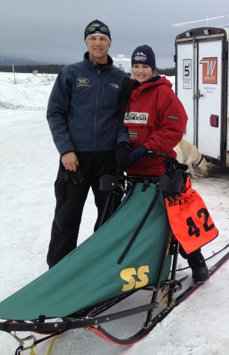 Troy and Julia in West Yellowstone after 1st place finishes