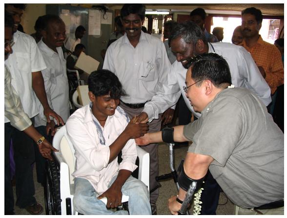 Recipient in India!