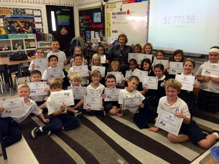 Margaret with the kids in Mrs. Kohler's Class
