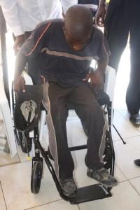Mooketsi in wheelchair