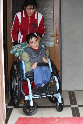 norik in wheelchair