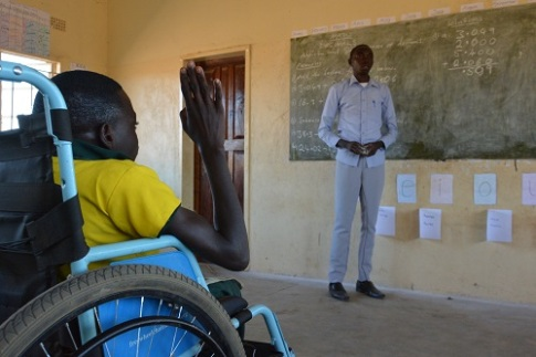 s160647-1: A donated wheelchair rejuvenates Joseph's hopes to complete school